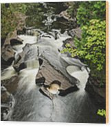 Cookie Cutter Falls Wood Print by Thomas Pettengill