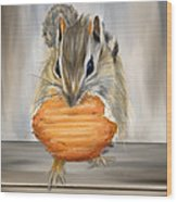 Cookie Time- Squirrel Eating A Cookie Wood Print