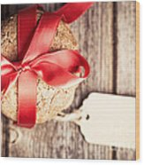 Cookies With Tag Retro Wood Print