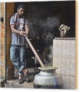 Cooking Breakfast Early Morning Lahore Pakistan Wood Print
