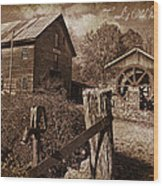 Cook's Old Mill 1857 Wood Print