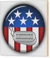 Cool America Insignia Wood Print
