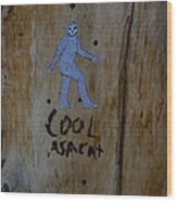 Cool Asacat Wood Print