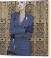 Cool Blonde Palm Springs Wood Print