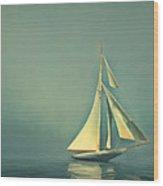 Cool Blue Sea Wood Print