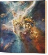 Cool Carina Nebula Pillar 4 Wood Print by Jennifer Rondinelli Reilly - Fine Art Photography