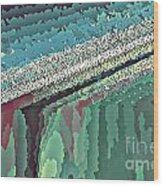 Cool Colors Abstraction Wood Print