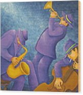 Cool Jazz Trio Wood Print