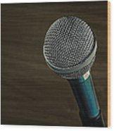 Cool Microphone Wood Print