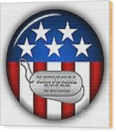 Cool National Guard Insignia Wood Print