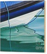Cool Ocean Blues Wood Print