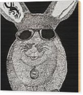 Cool Rabbit Wood Print