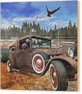 Cool Rusty Classic Ride Wood Print