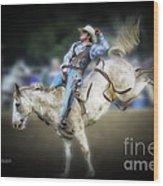 Cooper Rodeo Bronc Rider Wood Print