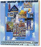 Cooper Young Festival Poster 2008 Wood Print