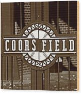 Coors Field - Colorado Rockies 15 Wood Print by Frank Romeo