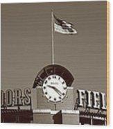 Coors Field - Colorado Rockies 16 Wood Print by Frank Romeo