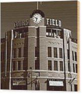 Coors Field - Colorado Rockies 20 Wood Print