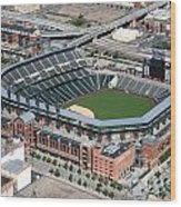 Coors Field Denver Wood Print