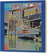 Coos Bay At Berth Wood Print