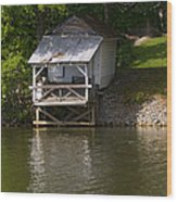 Coosa River Fishing Hut   #9548 Wood Print