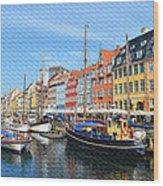 Copenhagen Denmark Nyhavn District Wood Print
