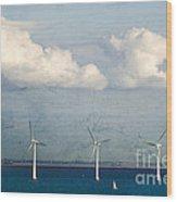 Copenhagen Wind Turbines Wood Print