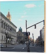 Copley Square - Old South Church Wood Print