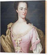 Copley's Jane Browne -- Mrs. Samuel Livermore Wood Print