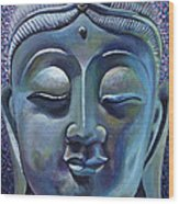 Copper Buddha Wood Print