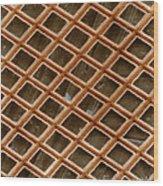 Copper Electron Micrograph Grid Wood Print