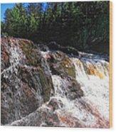 Copper Falls Wood Print