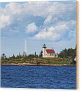 Copper Harbor Lighthouse Wood Print