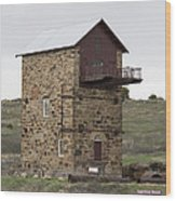 Copper Mine Enginehouse Wood Print