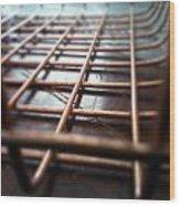 Copper On Wood Wood Print by Jaime Neo