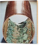 Copper Pipe Deposits Wood Print