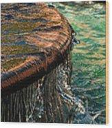 Copper Spill Wood Print