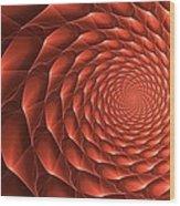 Copper Spiral Vortex Wood Print