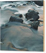 Copper Stream 1 Wood Print