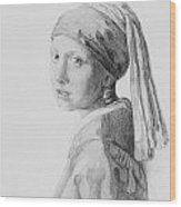 Copy after Vermeer Head of a Girl Wood Print