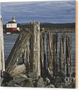 Coquille Lighthouse Oregon 3 Wood Print