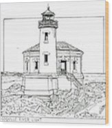 Coquille River Light Wood Print
