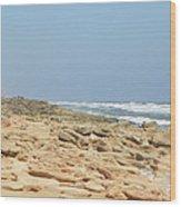Coquina Rock On A Florida Beach Wood Print