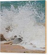 Coquina Waves Wood Print