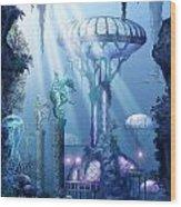 Coral City   Wood Print