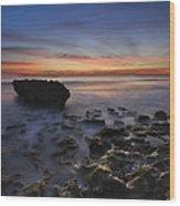 Coral Cove Beach At Dawn Wood Print