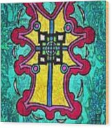 Coral Cross Wood Print