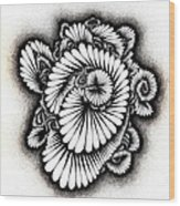 Coral Burst Wood Print