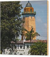 Coral Gables House And Water Tower Wood Print