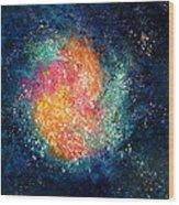 Coral Nebula Wood Print